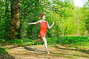 Girl Jogging Stock Photography - Image: 14571212