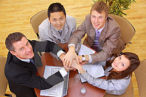 Businessteam And Hands Stock Photo - Image: 14572040