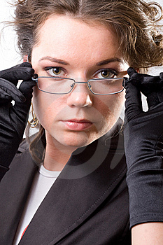 Young Woman With Glasses Stock Photography - Image: 14572262
