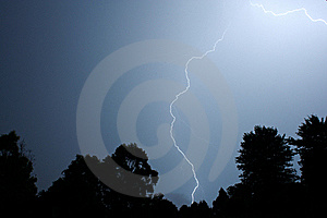 Lighting Storm Over Trees Stock Photography - Image: 14572982