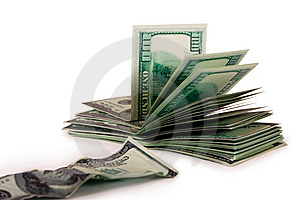Hundred-dollar Bills And The Old Bill Royalty Free Stock Photography - Image: 14573487