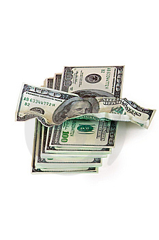 A Pile Of Hundred-dollar Bills Stock Images - Image: 14573594