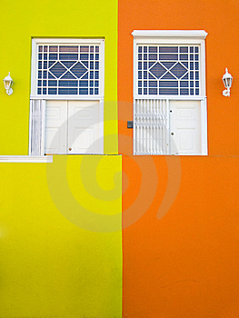 White Doors And Bright Walls Stock Photography - Image: 14574042