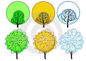 Stylized Seasonal Tree Stock Images - Image: 14575104