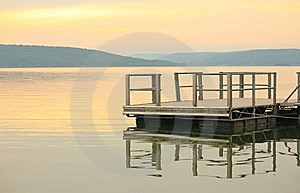 Lake Dock Royalty Free Stock Image - Image: 14575336