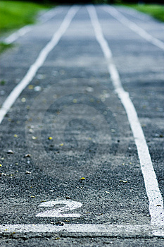 Running Track Royalty Free Stock Photos - Image: 14577118