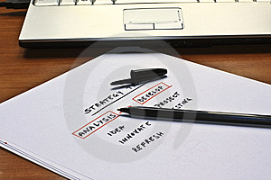Conceptual Scheme For A Business Strategy Stock Image - Image: 14577601