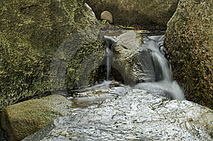 Waterfalls In The Japanese Garden Royalty Free Stock Photo - Image: 14577695