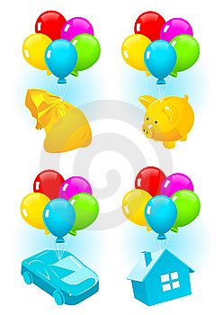 Aerial Icons Stock Images - Image: 14578174
