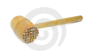 Used Wooden Meat Hammer Stock Photos - Image: 14579163