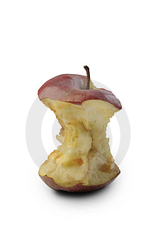 Bited Apple Royalty Free Stock Images - Image: 14581429