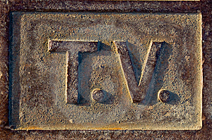 T.V Sign Stock Photos - Image: 14583013