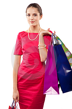 Woman Shopper Royalty Free Stock Image - Image: 14583066