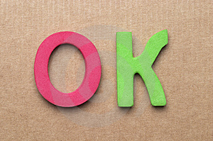 OK Letters Royalty Free Stock Image - Image: 14585076