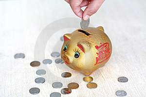 Money-box Royalty Free Stock Photo - Image: 14585465