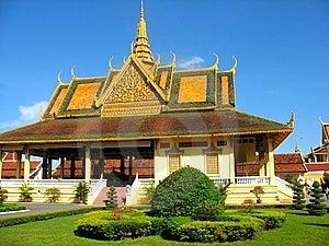 Constructions De Stationnement Royales à Phnom Penh Photographie stock libre de droits - Image: 14586337