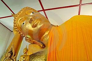 Recline Buddha Image Stock Photography - Image: 14587552