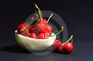Cherry And  Muskmelon Royalty Free Stock Image - Image: 14590216