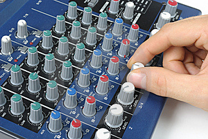 Tweaking Sound Board Stock Photography - Image: 14590322