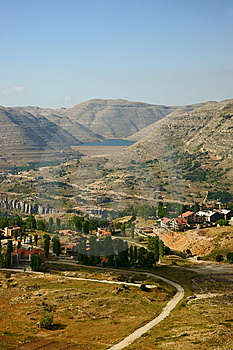 Faraya Region, Chabrouh Artificial Lake, Lebanon. Stock Images - Image: 14591964