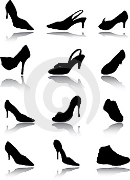 Footwear A Set Royalty Free Stock Image - Image: 14592376