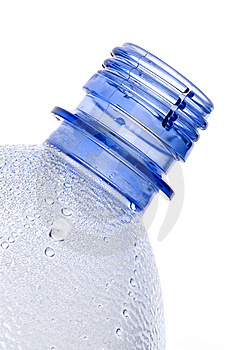 Steamy Blue Plastic Bottle Neck Royalty Free Stock Photo - Image: 14593925