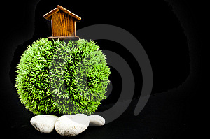 Wooden House And Stones Royalty Free Stock Photo - Image: 14594275