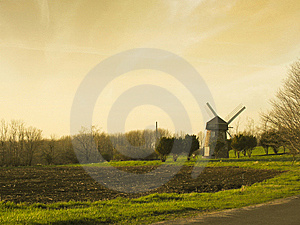 Early Morning Windmill Royalty Free Stock Photos - Image: 14594468