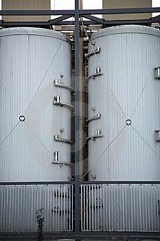 Brewery Tanks Royalty Free Stock Image - Image: 14594876