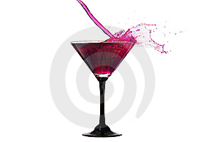 Water Crown In Cocktail Glasses Stock Images - Image: 14595984