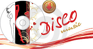 Music Disk With Button. Romance Composition Royalty Free Stock Photography - Image: 14598197
