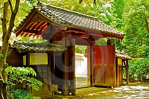 Japanese Temple Entrace Stock Photo - Image: 14601420