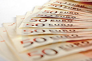 Fifty Euro Notes Royalty Free Stock Image - Image: 14603196