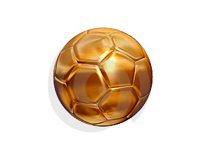 Golden Soccer Ball Stock Photo - Image: 14605490