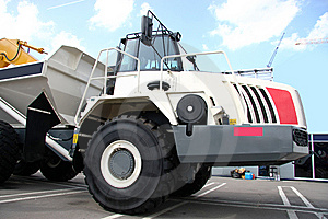 Career Dump-body Truck Royalty Free Stock Image - Image: 14605906