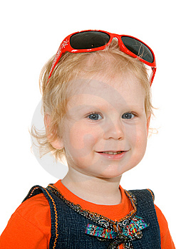 Small Girl With Spectacles Stock Image - Image: 14606911