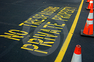 No Trespassing Royalty Free Stock Images - Image: 14607299