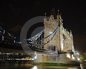 Illuminated Tower Bridge At Night 3 Stock Image - Image: 14609031