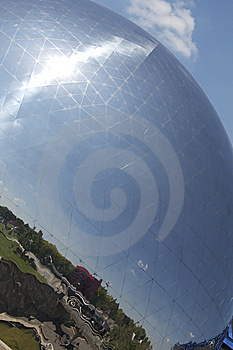 Geodesic Dome, Parc De La Villette, Paris Royalty Free Stock Image - Image: 14609566