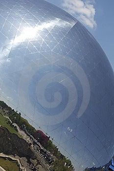 Geodesic Dome, Parc De La Villette, Paris Royalty Free Stock Image - Image: 14609566