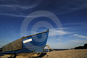Blue Fishing Boat Royalty Free Stock Photo - Image: 14624075