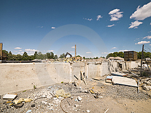 Demolished Neighbourhood Royalty Free Stock Photo - Image: 14626145