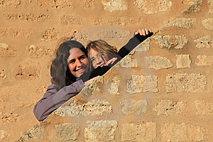Girl Hiding Hands Royalty Free Stock Photos - Image: 14626268