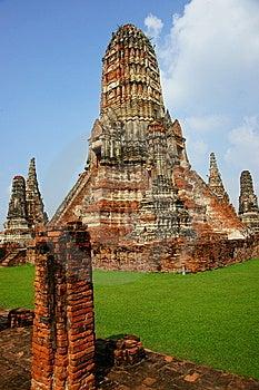 Wat Chai Wattanaram, Ayutthaya, Thailand. Royalty Free Stock Photography - Image: 14630027