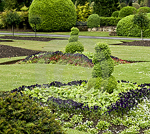 Sculpted Shrubs Stock Image - Image: 14630041