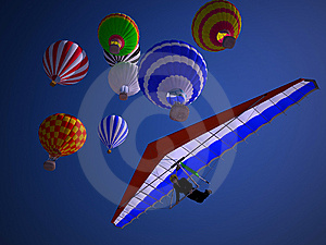 Balloons At Sunset Royalty Free Stock Photo - Image: 14630175