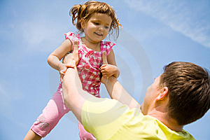 Happy Father With His Little Daughter Stock Images - Image: 14630894
