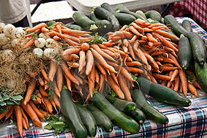 Organic Vegetables At The Farmers Market Royalty Free Stock Photos - Image: 14631148
