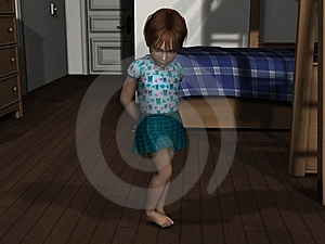 3D Render Shy Young Girl Royalty Free Stock Photography - Image: 14631377