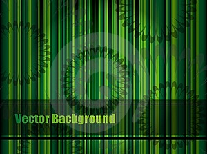 Green Background With Stripes And Flower Pattern, Stock Image - Image: 14633901